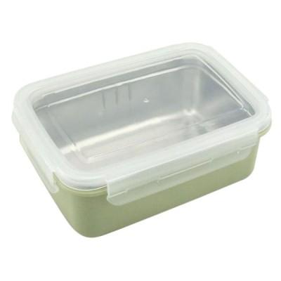 ステンレススチール製のランチボックスピクニック用の食品貯蔵容器グリーンシングル