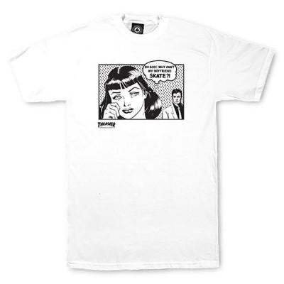 Thrasher (スラッシャー) US Tシャツ Boyfriend T-Shirt White スケボー SKATE SK8 スケートボード