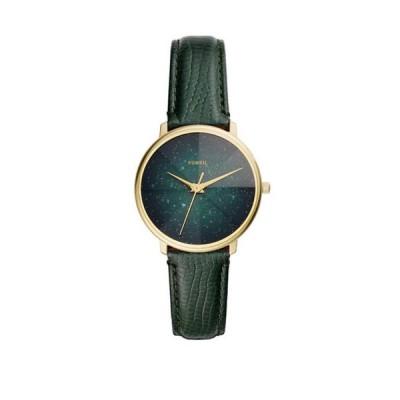 フォッシル レディース 腕時計 アクセサリー Women's Prismatic Galaxy 3 Hand Green Leather Watch