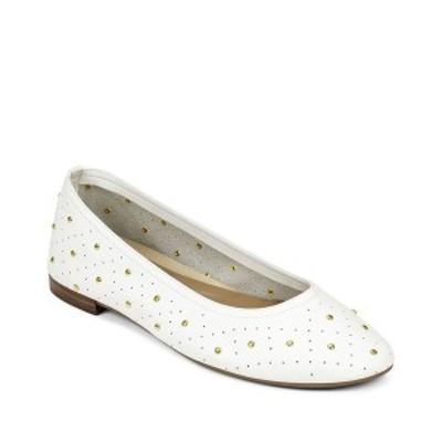 エアロソールズ レディース サンダル シューズ Shelley Ballet Flat White Leather