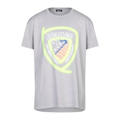 ブラウアー BLAUER T シャツ ライトグレー S コットン 100% T シャツ