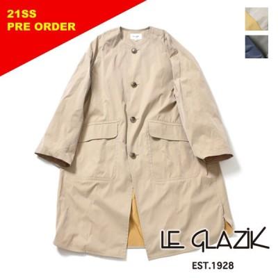 LE GLAZIK ル・グラジック ダブルフェイス ツイルノーカラーコート JL-8132