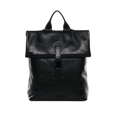 "FEYNSINN Backpack MATS Large daybag knapsack Real Leather 15.6"" Laptop Rucksack Leather Bag Women and Men Black 並行輸入品"