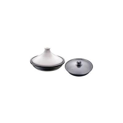 【まとめ買い10個セット品】ブローディア IHタジン鍋(ガラス蓋付) 19cm 白 3002