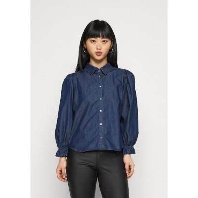 オンリー プティ シャツ レディース トップス ONLFIFI - Button-down blouse - dark blue denim