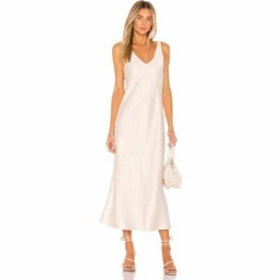ライン アンド ドット Line and Dot レディース ワンピース ワンピース・ドレス Loulou Satin Dress Cream