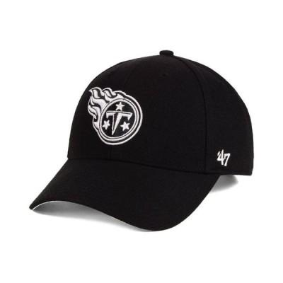 47ブランド メンズ 帽子 アクセサリー Tennessee Titans Black & White MVP Strapback Cap