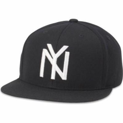 アメリカンニードル American Needle ユニセックス キャップ 帽子 New York Black Yankees Archive 400 Series Adjustable Black Hat
