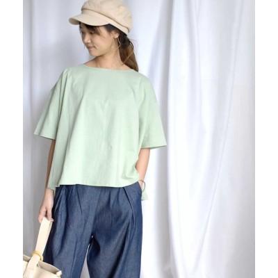 【アルゴトウキョウ】 Back belt flare tops 24148 レディース グリーン ワンサイズ ARGO TOKYO