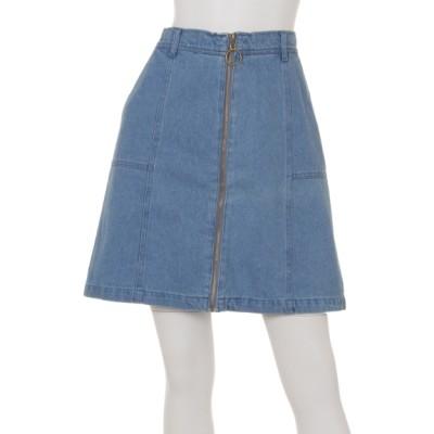 Ray Cassin (レイカズン) レディース リングジップ台形スカート ブルー FREE