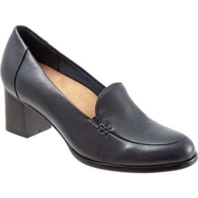 トロッターズ Trotters レディース スリッポン・フラット シューズ・靴 Quincy Slip-On Navy Soft Nappa Leather