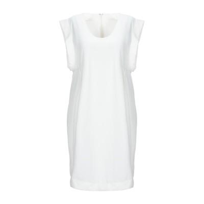 キャシャレル CACHAREL ミニワンピース&ドレス ホワイト 42 ポリエステル 100% ミニワンピース&ドレス