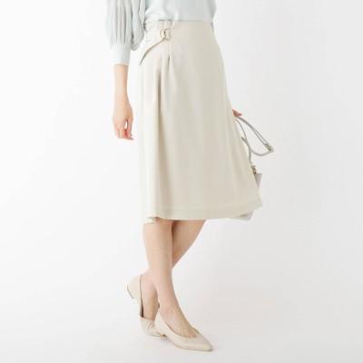インデックス INDEX Reflax(R)カナパフレアスカート【WEB限定サイズ】 (ライトベージュ)