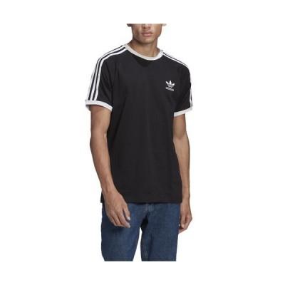 (取寄)アディダス オリジナルス メンズ 3 ストライプ Tシャツ adidas originals Men's 3 Stripe T-Shirt Black White 送料無料