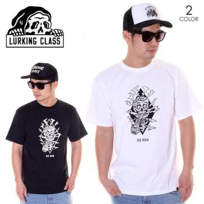 LURKING CLASS ラーキングクラス Tシャツ メンズ DIE HIGH TEE ST19ST07 ブラック/ホワイト S/M/L