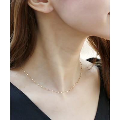L&Co. / K10フラワーエクレアチェーン ネックレス WOMEN アクセサリー > ネックレス