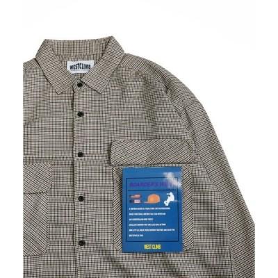 シャツ ブラウス WEST CLIMB/BIGチェックシャツ