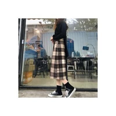 アムールボックス AMOUR BOX レトロチェック柄スカート スカート チェック柄 秋 冬 2019 AW (チェック)