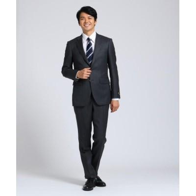 【タケオキクチ】 シャドーオルタネイトストライプスーツセットアップ Fabric by MIYUKI KEORI メンズ チャコール グレー 03(L) TAKEO KIKUCHI