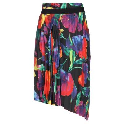 バレンシアガ BALENCIAGA 7分丈スカート ブラック 36 ポリエステル 100% 7分丈スカート