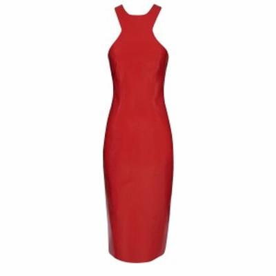 SAINT LAURENT PARIS/イヴ サンローラン ドレス RED Saint laurent latex dress レディース 秋冬2020 632978 Y7B08 ik