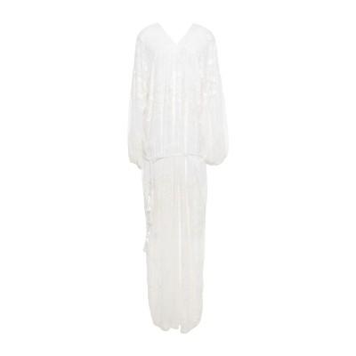 シルビアンヒーチ SILVIAN HEACH ロングワンピース&ドレス ホワイト XS ポリエステル 100% ロングワンピース&ドレス