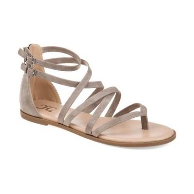 ジャーニーコレクション サンダル シューズ レディース Women's Comfort Zailie Sandals Taupe