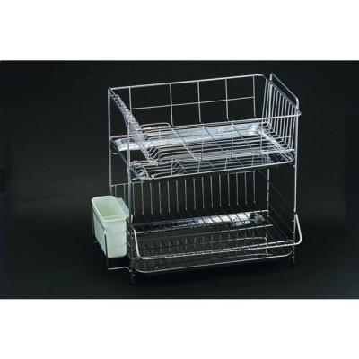 食器 の 水切り に 2段式水切りラック 18-8ステンレス 製 国産 日本製 買い回り
