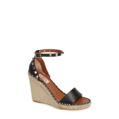 ヴァレンティノ VALENTINO GARAVANI レディース エスパドリーユ ウェッジソール シューズ・靴 Rockstud Espadrille Wedge Cognac Leather