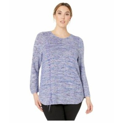 NIC+ZOE ニックゾー 服 スウェット Plus Size Braided Up Top