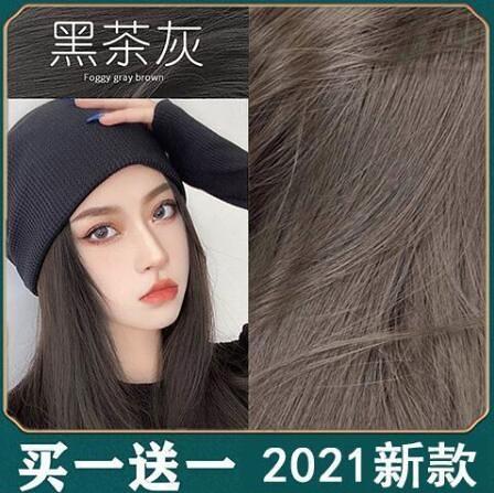 2021流行色 染髪劑 染髮 買一送一 黑色 染髪膏 純天然植物 霧藍色 渣女粉 臟橘色 奶茶色