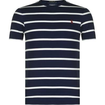 ラルフ ローレン POLO RALPH LAUREN メンズ Tシャツ トップス Striped T Shirt Navy/Nevis