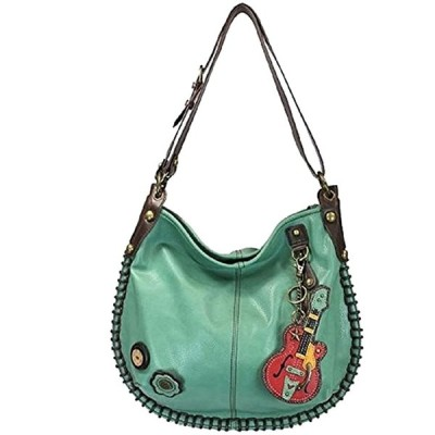 Chala パース ハンドバッグ Hobo クロス Body Convertible ティール Guitar Bag『海外取寄せ品』
