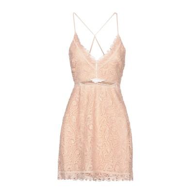 TJD™ ミニワンピース&ドレス ライトピンク S レーヨン 100% ミニワンピース&ドレス
