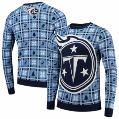 Forever Collectibles フォーエバー コレクティブル 服 スウェット Tennessee Titans Navy Big Logo Pullover Sweate