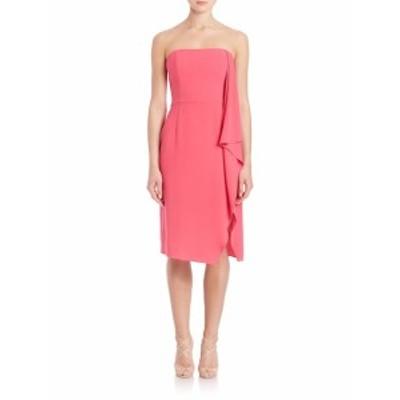 ハルストンヘリテージ レディース ワンピース Strapless Asymmetrical Flowy Drape Dress