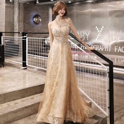 ロングドレス カラードレス イブニングドレス Aライン 二次会ドレス 演奏会 大きいサイズ 結婚式 ウェディングドレス Aライン お花嫁ドレス パーティードレス
