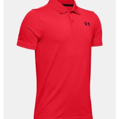 アンダーアーマー キッズ ポロシャツ Under Armour UA Performance Polo Textured ゴルフ 半袖 ed/Black