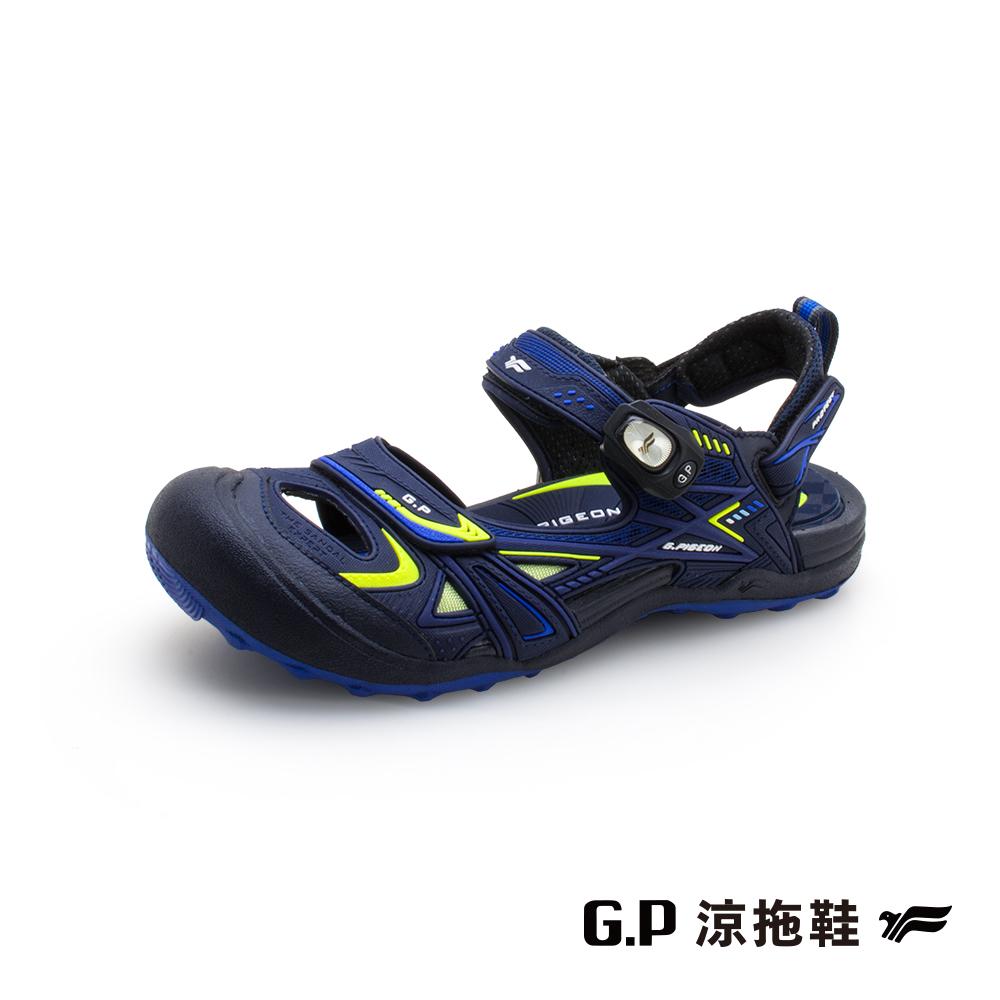 【G.P 男款戶外越野護趾鞋】G1642M-26 藍綠色 (SIZE:40-44 共三色)