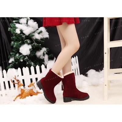 ショートブーツレディースムートンブーツ厚底美脚歩きやすい裏起毛スポッツ靴フリンジ