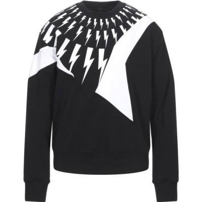 ニール バレット NEIL BARRETT メンズ スウェット・トレーナー トップス Sweatshirt Black