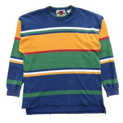 EDDIE BAUER エディーバウアー ロングスリーブTシャツ ロンT ボーダー サイズ表記:L