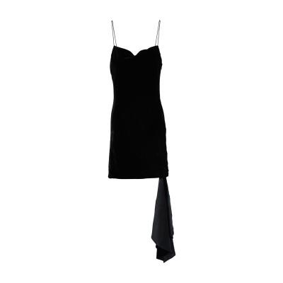 CINQ À SEPT ミニワンピース&ドレス ブラック 6 レーヨン 82% / シルク 18% ミニワンピース&ドレス