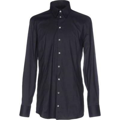 パトリツィア ペペ PATRIZIA PEPE メンズ シャツ トップス solid color shirt Dark blue