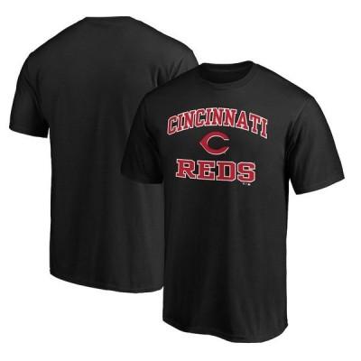 ファナティクス ブランデッド メンズ Tシャツ トップス Cincinnati Reds Fanatics Branded Heart & Soul T-Shirt