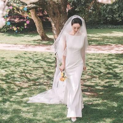 ウエディングドレス 白 ノースリーブ 結婚式 二次会 aライン 安い 前撮り 披露宴 パーティードレス ロングドレス 演奏会 ピアノ 背中開き シンプル 韓国風