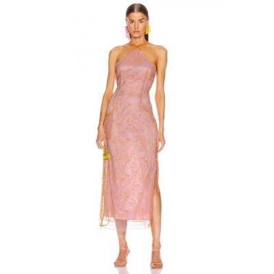 ジャックムス JACQUEMUS レディース ワンピース ワンピース・ドレス la robe lavandou Pink/Orange