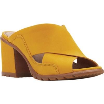 ソレル サンダル シューズ レディース Nadia Slide (Women's) Golden Yellow Nubuck