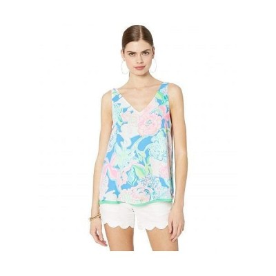 Lilly Pulitzer リリーピューリッツァー レディース 女性用 ファッション ブラウス Reversible Florin Sleeveless V-Neck - Multi Peony For Your Thoughts