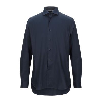UNGARO シャツ ダークブルー 38 コットン 97% / ポリウレタン 3% シャツ
